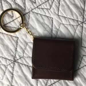 Coach Picture Frame Bag Charm Keychain Leather